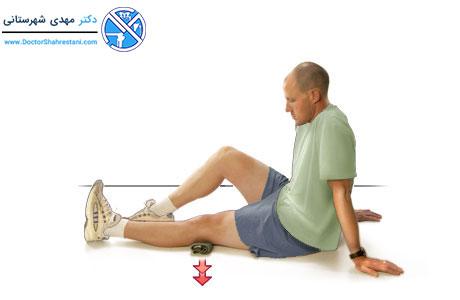 حرکت انقباض عضله چهارسر ران