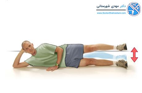 حرکت پای صاف بلند شده به سمت بیرون برای تقویت رباط قدامی