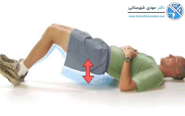 تمرین بلند کردن بدن روی پاشنه برای تقویت منیسک