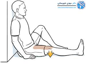 تمرین عضلات چهار سر ران برای تقویت مینیسک