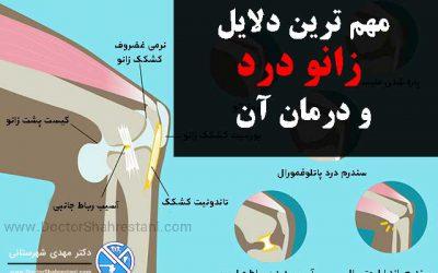 درمان زانو درد و علت ایجاد درد در زانو